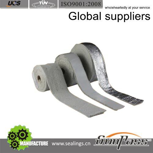 High Temperature Furnace Insulation Aluminium Foil Tape Ceramic Fiber Tape