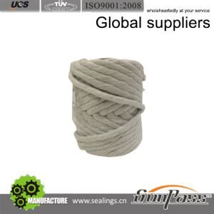 Ceramic Thermal Ceramic Fiber Rope With Stainless Steel Reinforced Twisted Rope